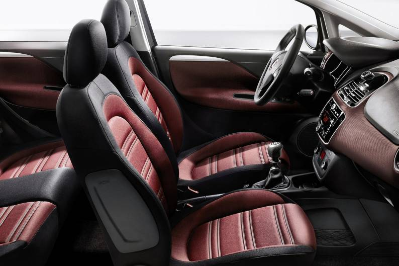 Black Blue Leather Car Seat Covers For Fiat Grande Punto 5DR 2006-2010