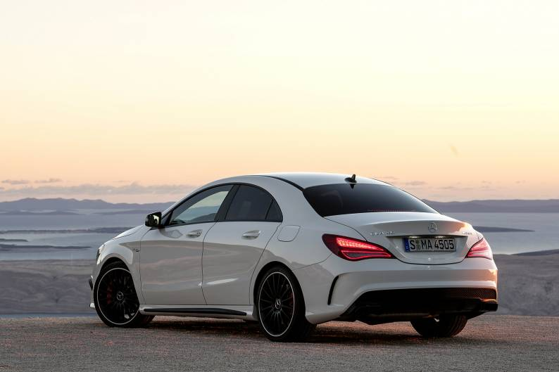mercedes amg cla 45 coupe review car review rac drive. Black Bedroom Furniture Sets. Home Design Ideas